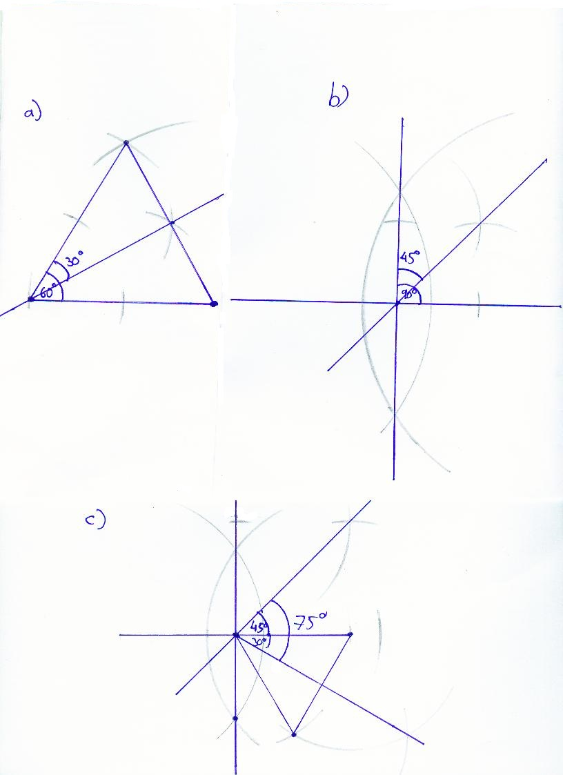 30 Grad Winkel Konstruieren : wie zeichnet man winkel ohne geodreieck mathematik geometrie ~ Frokenaadalensverden.com Haus und Dekorationen