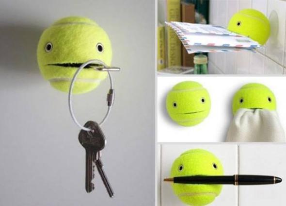Tennisball Helferlein   (Geschenk, Geburtstag, Basteln)