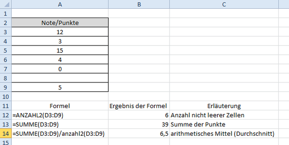 notenberechnung excel 11 klasse fos bayern mit dem 15. Black Bedroom Furniture Sets. Home Design Ideas