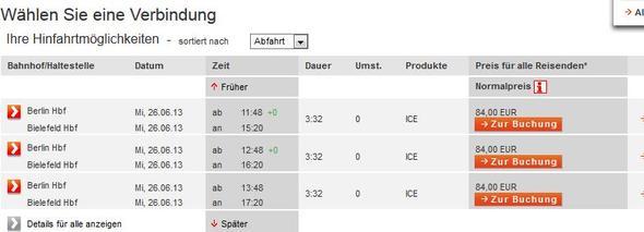 Ticket - (Preis, Bahn)