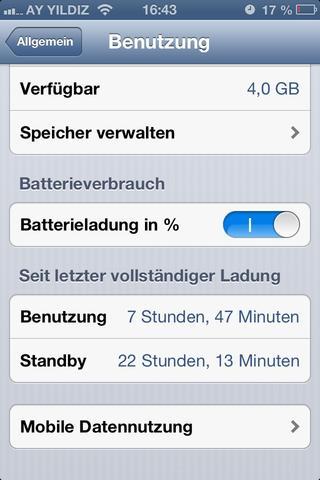 Screenshot meines Iphones - (iPhone, Apple, Akku)