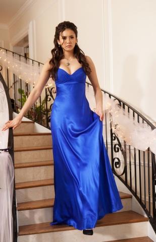 blaue kleid von elena - (Beauty, Kleidung)