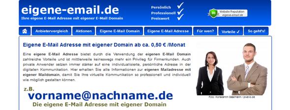 Maildomain-Anbietervergleich auf www.eigene-email.de - (Internet, E-Mail)