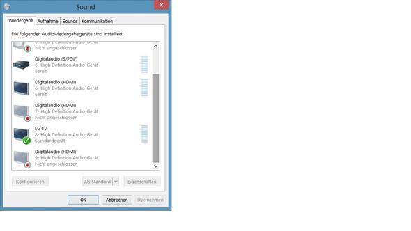 Sound unter Windows 8 - (Computer, Grafikkarte, TV)