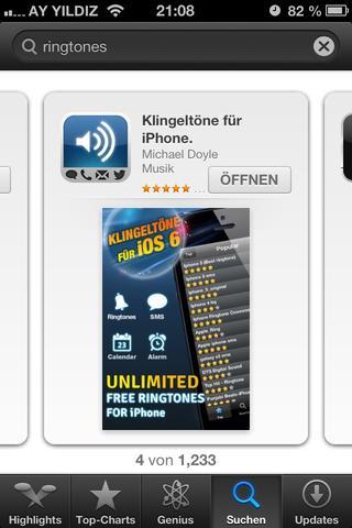 Screenshot AppStore - (Apple, Klingelton)