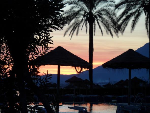 Andalusien im Okt. 12, Sonnenuntergang - (Bilder, Foto, Kamera)