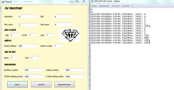 eingabe & textdatei - (programmieren, C Sharp, Windows Forms)