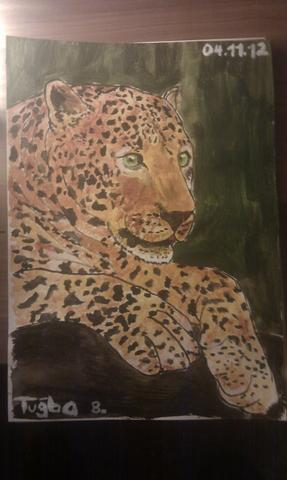 leopard - (malen, Acrylfarbe)