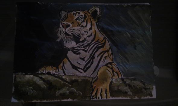 tiger - (malen, Acrylfarbe)