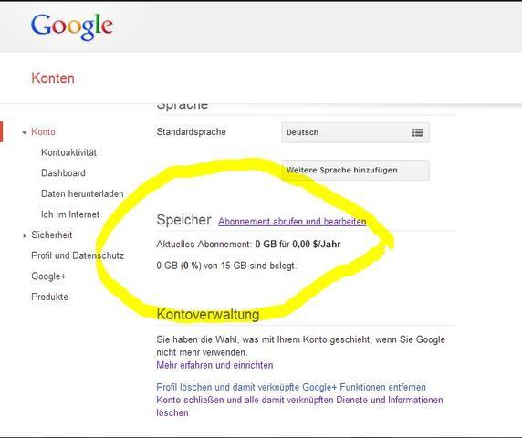 Kontoeinstellungen - (Google, Analytics)