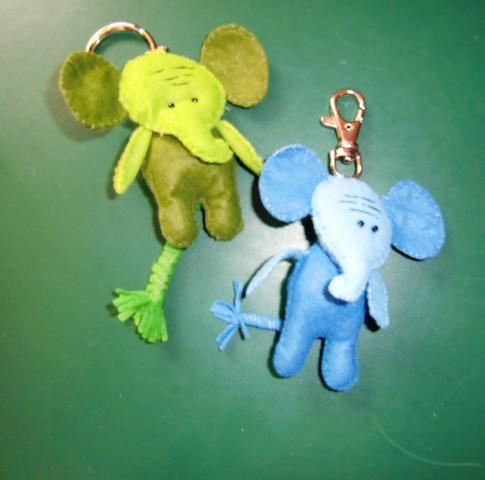 Schlüsselanhänger aus Filz  - (Ideen, basteln)
