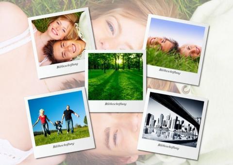 Mehrere Fotos im Polaroid-Stil - (PC, Foto)