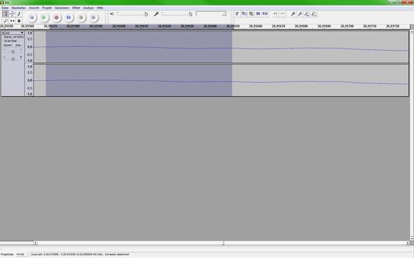 Screenshot von Audacity - (Computer, mp3, schneiden)