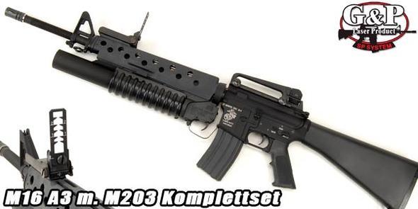 M16A3 mit M203 - (Freizeit, Waffen, Softair)