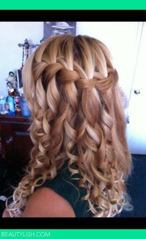 Waterfallbraid with curls :) - (Haare, Frisur, Abschlussfeier)