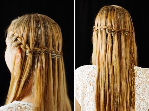 Mit glatten haaren  - (Haare, Frisur, Abschlussfeier)