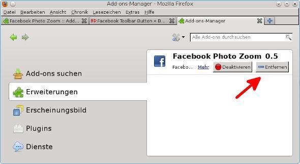 Add-ons - (Facebook, Bilder, Firefox)
