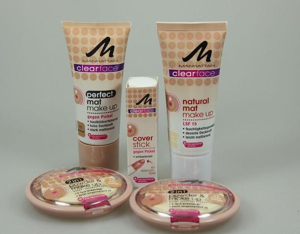 Make-Up und Cover Stick von Manhattan (gegen Pickel) - (Gesundheit, Beauty, Haut)
