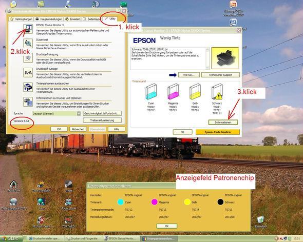 Monitor Epsondrucker - (Computer, PC, Software)