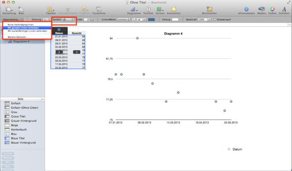 Beispiel - (Apple, Tabellenkalkulation, Numbers)