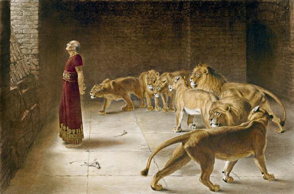 Daniel in der Löwengrube (Briton Rivière 1840-1920) - (Internet, Religion, Christentum)