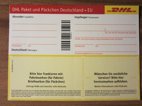 DHL Paket und Päckchenschein - (Post, Paket, Verkauf)