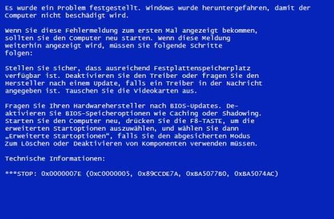 BIOS-Fehler-Bluescreen - (Computer, PC, Bluescreen)