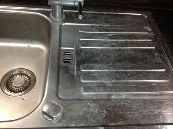 Spüle Vorher - (Küche, Flecken, edelstahl)
