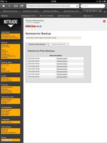 Nitrado minecraft backup saves