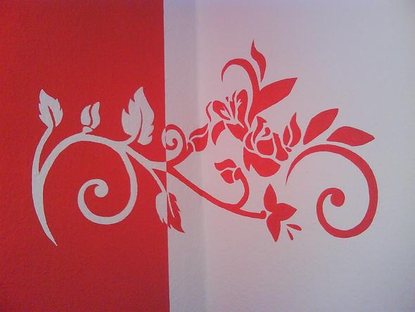 2 Wände In Zimmer Rot Streichen Wand