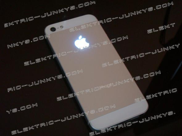 glowing apple logo  - (Apple, iphone 5)