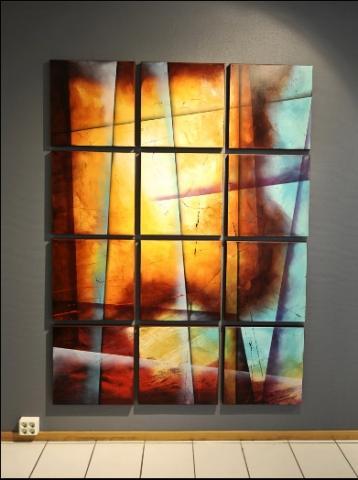 Paul Sinus abstraktes Gemälde - (Abstrakte Kunst)
