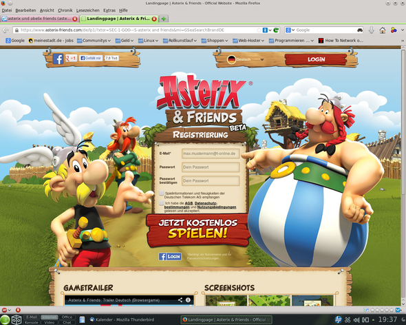openSUSE Flash mit asterix-friends - (Linux, asterix  obelix friends)