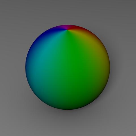 Farbiger Ball - (3D, Blender, rendern)