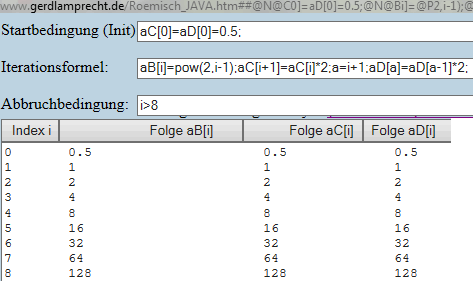 explizite und rekursive Folge per Iterationsrechner - (Mathe, Rekursiv)