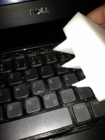 Tastaturschwamm - (Tastatur, reinigen, katzenhaare)