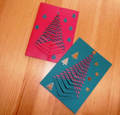 Weihanchtskarten Tannenbaum  - (Weihnachten, Ideen)