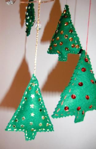 fILZBÄUMCHEN  - (Weihnachten, Adventskalender)