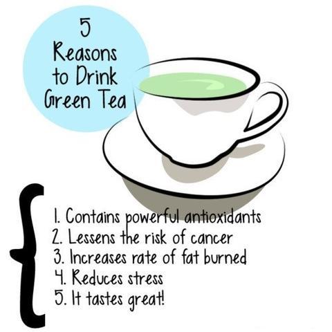 5 Gründe, um grünen Tee zu trinken. - (abnehmen, Tee, Studie)