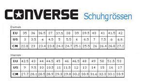 Schuhgrössen tabelle - (Chucks, All Star)