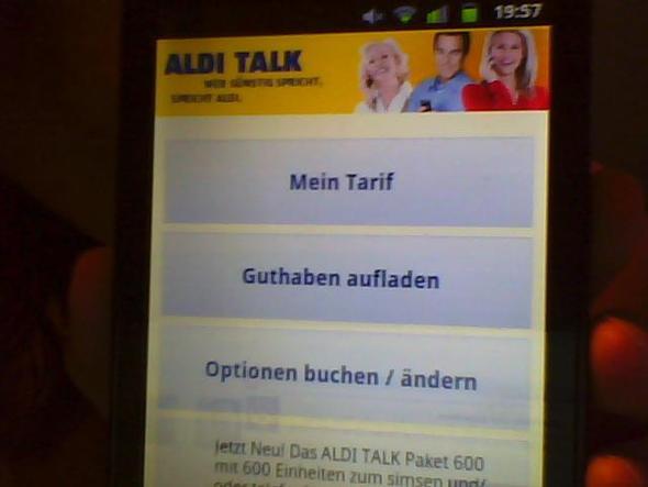 Die AldiApp.^^ :3 - (Handy, Aldi-Talk, Flat)