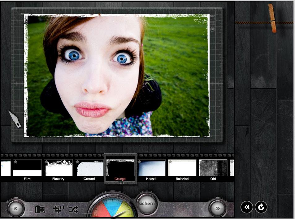 online fotobearbeitung mit vielen rahmen foto filmstreifen. Black Bedroom Furniture Sets. Home Design Ideas