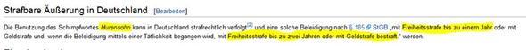 wikipedia zu : huXensohn - (Recht, Streit, Beleidigung)