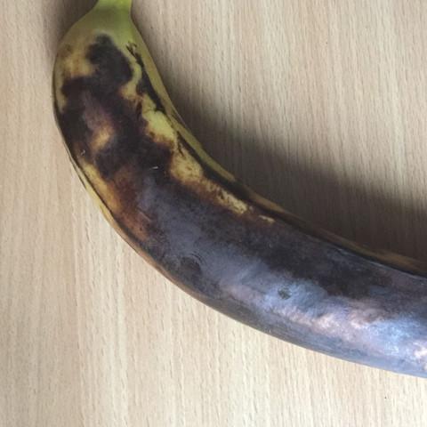 Kann man diese Banane noch essen oder wäre das ungesund