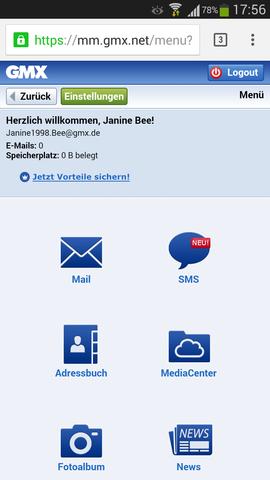 Screenshot - (löschen, gmx)