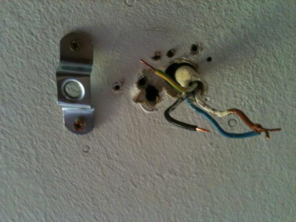 anschluss einer lampe (Installation, Elektrik, Elektrotechnik)