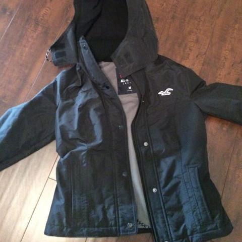 Hollister all weather jacket  - (Jacke, Hollister, Schwarz-Grau)