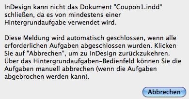 Fehlermeldung - (PDF, indesign)