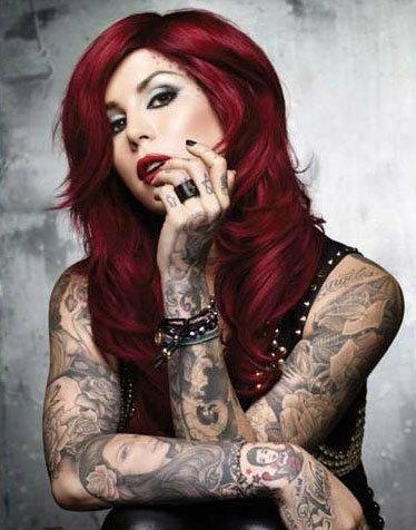Wunschfarbe  - (Haare, rot)