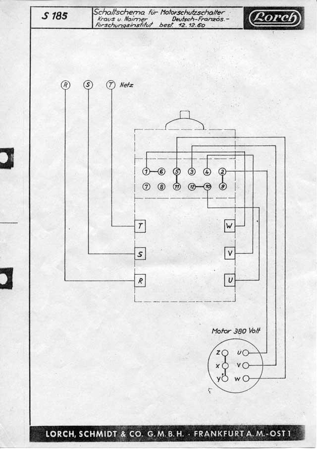 Schaltplan 400V Motor, 4poliger starkstrom Stecker (Elektronik ...